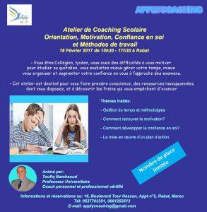 Atelier coaching scolaire 18-02-2017